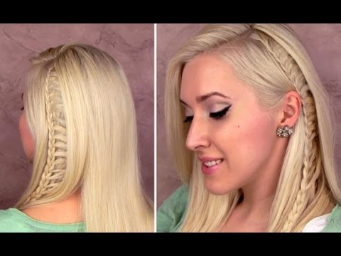 Ladder braid: easy back to school hairstyle for medium long hair tutorial Cute side lace braid