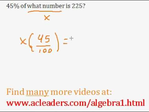 Basic Percent Word Problem - easy explanation!!! (pt. 4)