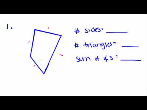 Introduction to Geometry - 30 - Angle Measures in Convex Polygons