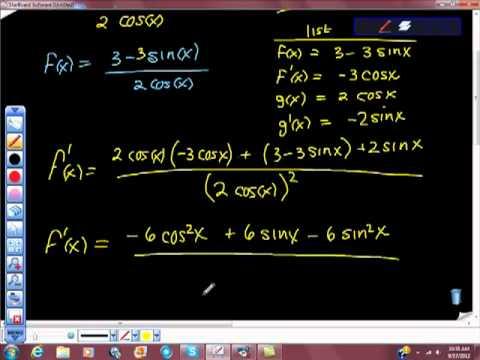 AP Calculus Quotient Rule and Trigonometric Functions