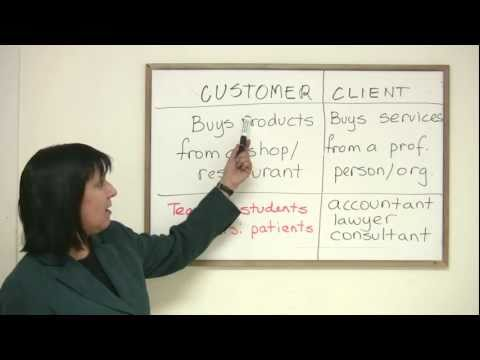 Business English Vocabulary - CUSTOMER & CLIENT