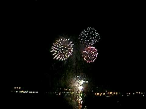 Fireworks on the San Diego Bay, California