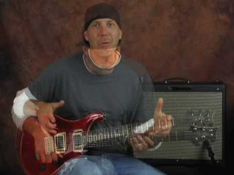 Lead guitar lesson & jam tracks rock blues create riffs solo