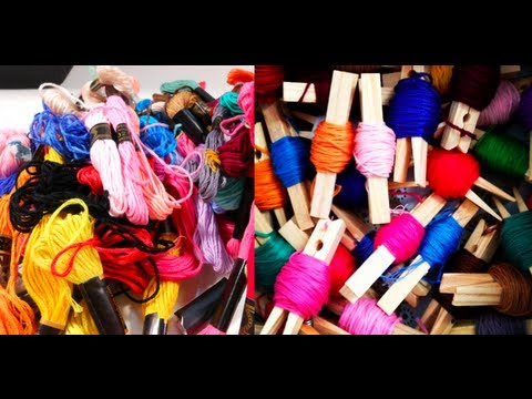 DIY: Embroidery Floss Organization