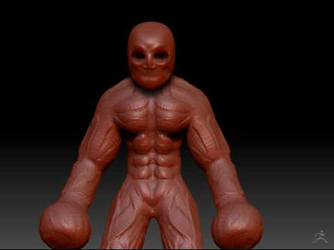 Zbrush Timelapse - Super Villain Part 1/8