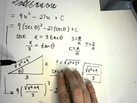 Trigonometric Substitution Example 1 Part 2
