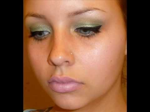 Spring Makeup tutorial: green and pink