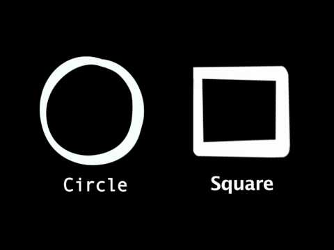 Learn English Words: Circle/Square