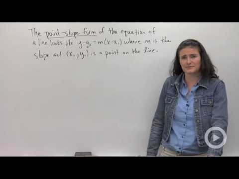Point-Slope Form of Linear Equations