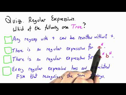 Regular Expressions - CS262 Unit 7 - Udacity