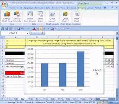 Excel Magic Trick # 2: Chart Keyboard Trick