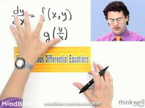 Calculus: Separate Homogeneous Diff. Equations