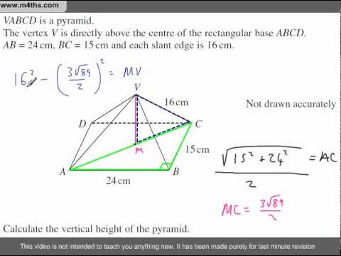 (Q134) A Star GCSE Revision Questions Pryamid Problem