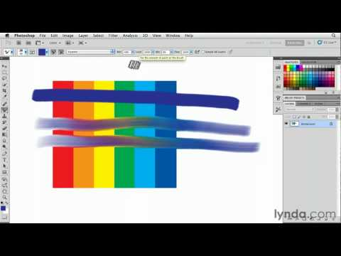 How to use the Photoshop brushstroke controls | lynda.com tutorial