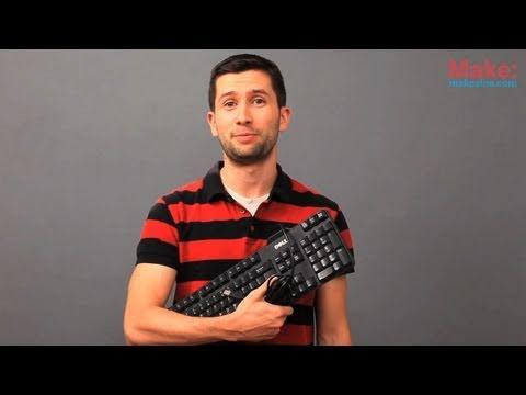 Hack a USB keyboard: Google Reader Pedal
