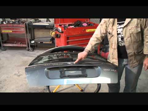 DIY-Collision Repairs-L.K.Q. Replacement Parts-Getting The Decklid Ready For Paint. Part 1