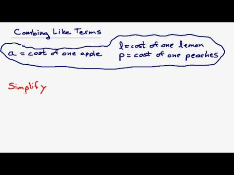 Combining Like Terms and Simplifying Algebraic Expressions