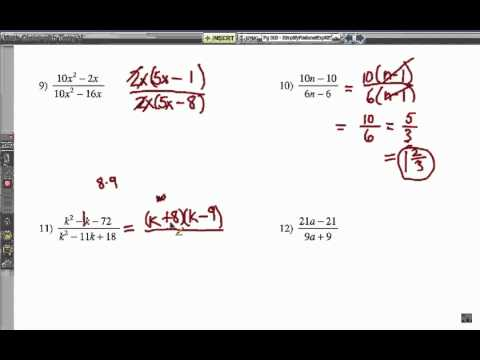 How to Simplify Rational Expressions: Problem Set 3