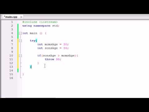 Buckys C++ Programming Tutorials - 62 - Exceptions