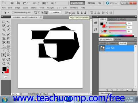 Photoshop CS5 Tutorial Working with Paths Adobe Training Lesson 12.7