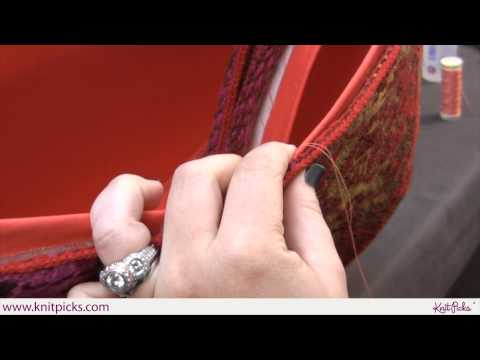 How to Line the East Meets West Bag Part 7: Hand Sewing the Lining