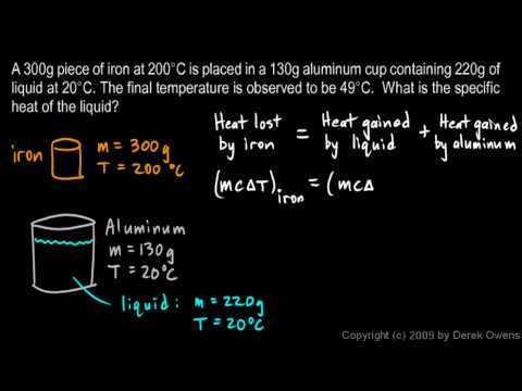 Physics 9.09g - Calorimetry Example 2