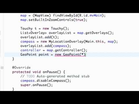 Android Application Development Tutorial - 135 - Compass and Map Controller