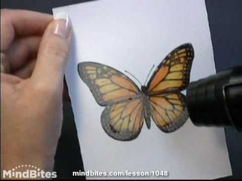 How to make a Butterfly Landscape Card