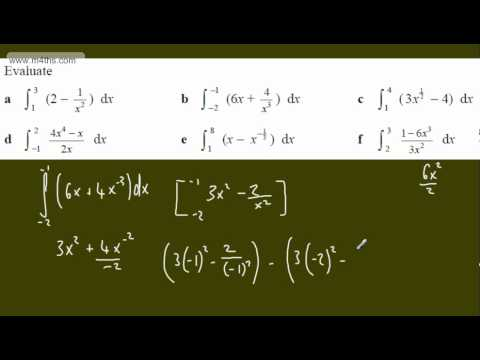 (3) Core 2 Integration (More definite integrals - evaluating) AS maths