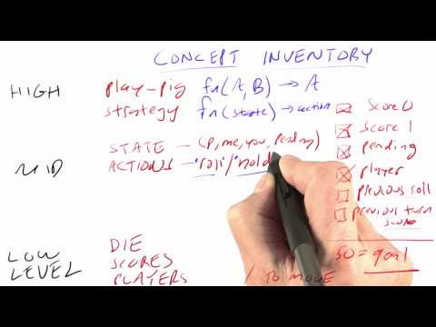 Concept Inventory - CS212 Unit 5 - Udacity
