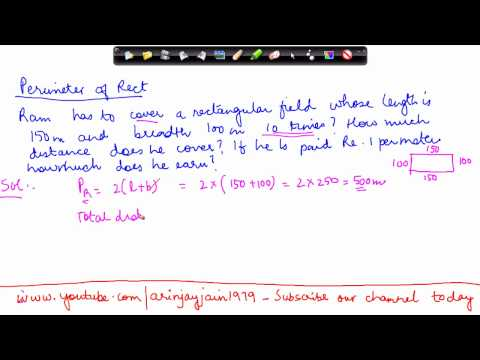 143-Mathematics Class VI - Perimeter - Problem 1