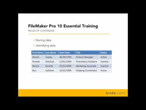 FileMaker Pro: What is a database? | lynda.com
