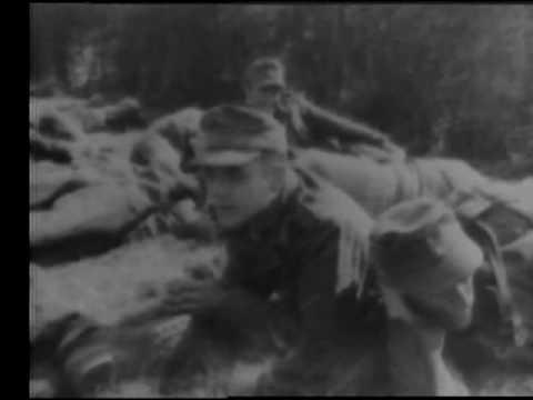 Battle Rages Along Nazi Wall 1944 Newsreel