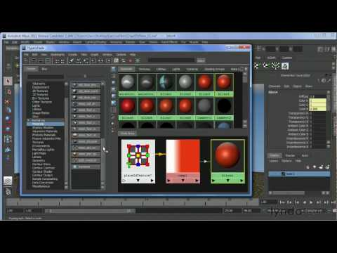 Maya tutorial: How to use the Hypershade Window | lynda.com