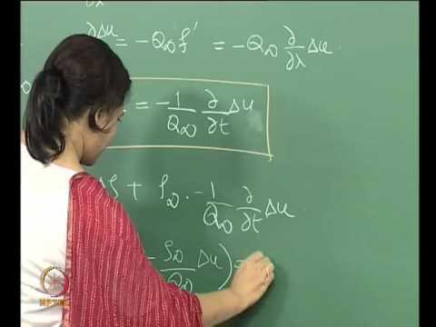 Mod-01 Lec-17 Lecture-17-Wave propagation: Small Perturbation Theory