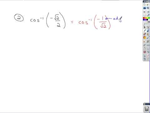 Trigonometry - Inverse Trig Functions