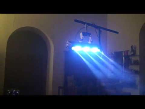 ADJ  FUSION FX BAR 3 In the dark with smoke