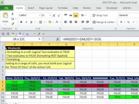Excel Magic Trick 787: Conditional Formatting Basic To Advanced (30 Examples)