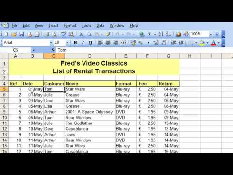 Microsoft Excel Tutorial for Beginners #26 - Database Pt.2 - Freeze & Split Table Navigation