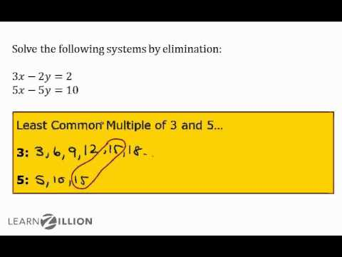 Solve systems of equations using elimination (4) - 8.EE.8