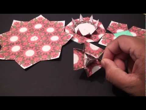 Popular Craft Projects - 004: Tea Bag Folding Three Sided Flower (By Suhas) - TCGames [HD]