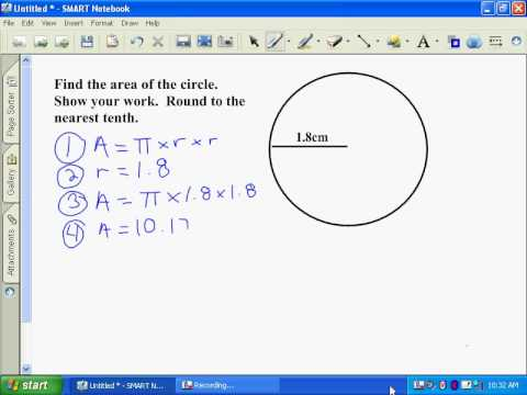 sierra finding area of a circle