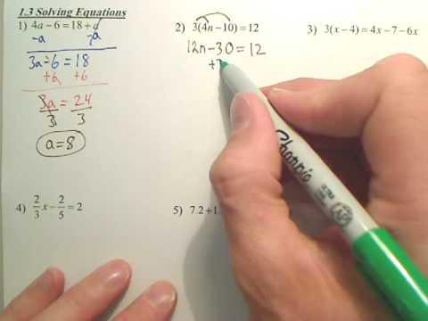 Algebra 2   1.3a