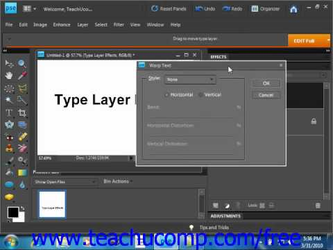 Photoshop Elements 9.0 Tutorial Simplifying & Applying Effects to Layers Adobe Training Lesson 11.6