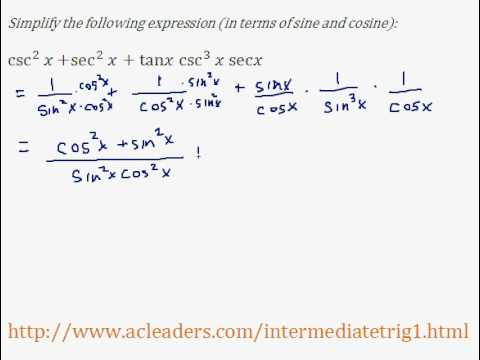 Simplifying trig expressions - Pt. 8 (EASY!!!!!)
