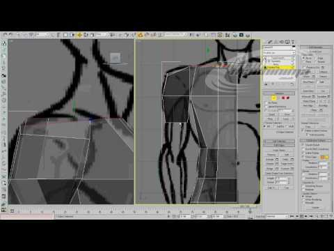 3D Studio MAX - Basic Modeling - Edge Loop Part 02