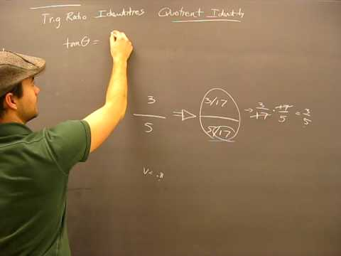 Quotient Identity Proof Pt1: Trigonometry Trig Math Help