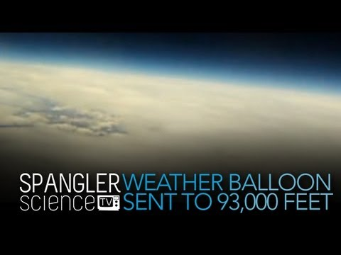 Weather Balloon Sent to 93,000 Feet - Cool Science Experiment
