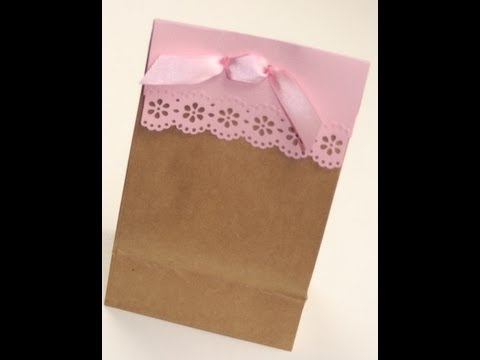 Cute Paper Lace Gift Bag