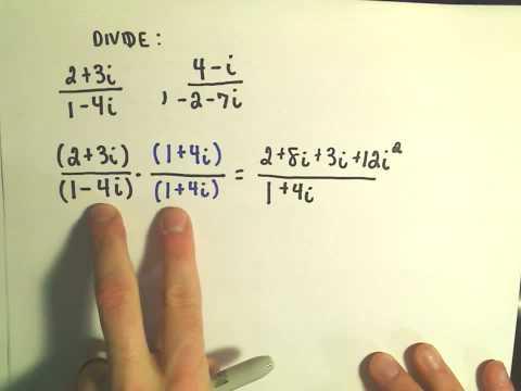 Complex Numbers: Dividing - Ex 2